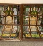 371. Two Pairs of Stained Glass Windows |  $330