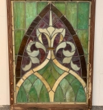 373. Framed Stained Glass Window Panel |  $406.25