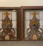 374. Pair Of Stained and Leaded Glass Window Panels |  $420