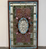 377. Framed Stained Glass Window Panel |  $531.25