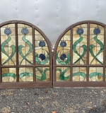 379. Pair of Stained Glass Domed Window Panels |  $510