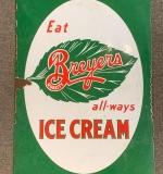 383. Double-sided Breyers Ice Cream Porcelain Sign |  $270