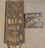 384. Two Painted Wood Trade Signs |  $312.50