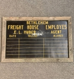 385. Bethlehem Freight House Accident Recording Sign |  $150