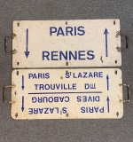 388. Two French Railroad Metal Directional Signs |  $336