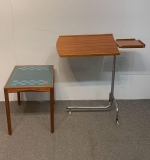 390. Danish Modern Game Table and Bedside Trolley |  $187.50
