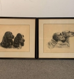 413. Two Leon Danchin Engravings, Portraits of Dogs |  $360