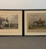414. After Barraud. 2 Equestrian Portrait Lithographs |  $240