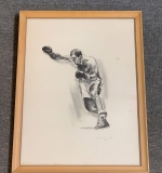 424. Robert Riger. Signed Lithograph, Rocky Marciano |  $240