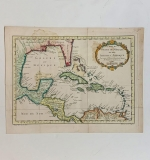446. Jacques Nicolas Bellin. Map of the Gulf of Mexico |  $150