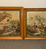 449. Pair of 19th Century Embroidered Panels |  $120