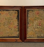 451. Pair of Victorian Needlepoint Embroidered Panels |  $72