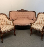 454. Three-piece French Carved Parlor Suite |  $468.75