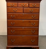 459. Harden Cherry Chippendale-style Tall Chest |  $300