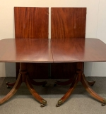 493. Georgian-style Mahogany Dbl-Pedestal Dining Table |  $281.25