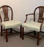 494. Ten Georgian-style Carved Mahogany Dining Chairs |  $875