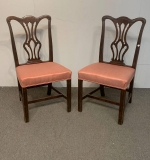 497. Pair of 19th C. Chippendale-style Side Chairs |  $12