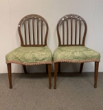 498. Pair Of Federal Carved Side Chairs |  $24