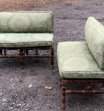 503A. Pair of Rattan Armless Settees |  $562.50