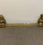 508. French Figural Fireplace Chenets and Fender |  $150
