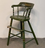 528. 19th C. Paint Decorated Child's High Chair |  $24