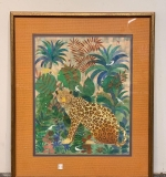 540. Castel. Mixed Media, Jungle Scene with Leopard |  $84
