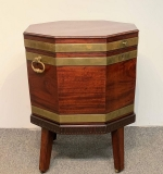 1. Georgian Banded Mahogany Cellarette On Stand |  $600