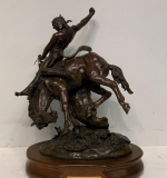 "12. Lucille Hampton. Bronze, ""The American Breed"" 
