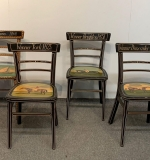 18. Four Early Am.-style Paint-decorated Side Chairs |  $250