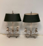 31. Pair of Silverplate Twin-light Table Lamps |  $660