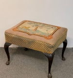 33. Mahogany Queen Anne-style Footstool |  $112.50