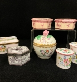 34. Grouping of Seven Dresser and Trinket Boxes |  $87.50