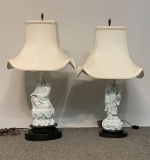 54. Pair of Chinese Blanc De Chine Porcelain Lamps |  $3,240