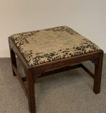 56. Chinese Chippendale Carved Mahogany Stool |  $540