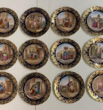 "61. 12 Royal Vienna-style ""Cries of London"" Plates 