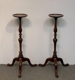 65. Pr English Mahogany Queen Anne-style Plant Stands |  $250