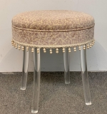 73. Lucite Swivel Vanity Stool by Reflectone Corp. |  $125