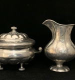 87. Portuguese Pewter Pitcher and Tureen |  $87.50