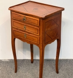 108. Louis XV-style Inlaid Stand with Three Drawers |  $343.75