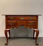 111. 18th C. Chippendale Delaware Valley Walnut Lowboy |  $1,080