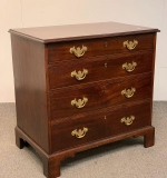 112. 18th C. Chippendale Mahogany Four-drawer Chest |  $812.50