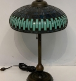 117. Arts and Crafts Stained Glass Table Lamp |  $3,250