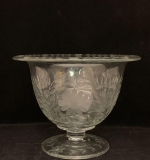 118. Cut and Etched Glass Footed Punch Bowl |  $162