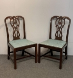 137. Pair of Chippendale Mahogany Side Chairs |  $187.50