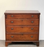 141. 18th C. Chippendale Walnut Bachelor Chest Server |  $420