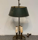 145. Brass and Tole Metal Bouillotte Lamp |  $37.50