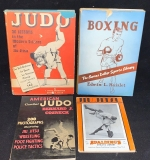 160. Grouping of Four Martial Arts and Sporting Books |  $120