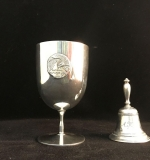 177. Tiffany & Co. Sterling Cup Trophy & Dinner Bell |  $240