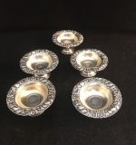 178. Five Woodside Sterling Co. Sterling Nut Dishes |  $72