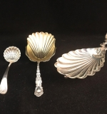 181. 3 Pcs. Sterling: Shell Dish, Spoon, Ladle |  $210